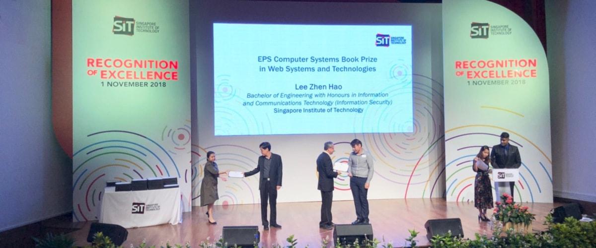 シンガポール工科大学の奨学金授与式2018